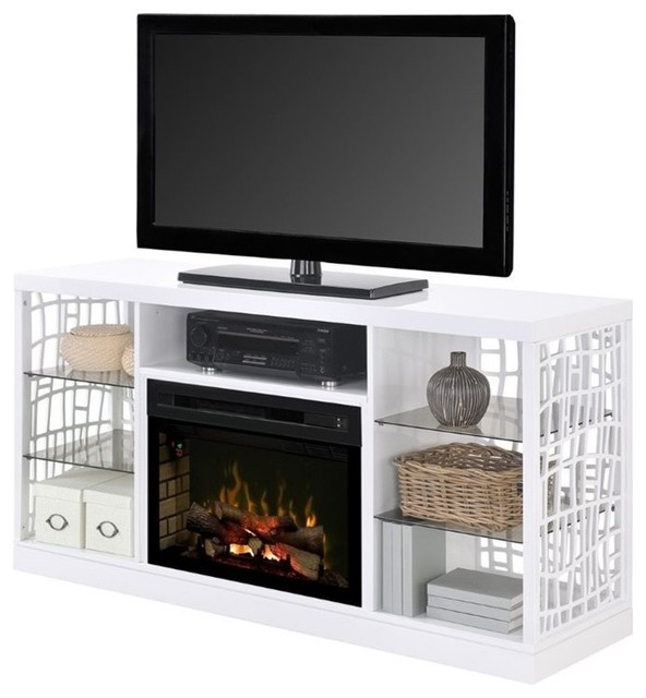 dimplex charlotte 25 fireplace tv stand white