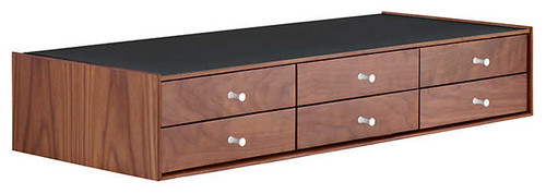 Nelson 6-Drawer Miniature Chest by Herman Miller, Walnut, Black