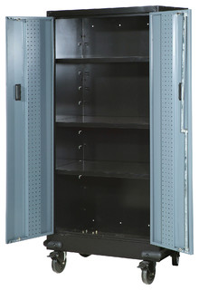 Storage Cabinet With Casters - Beach Style - Garage And Tool ...