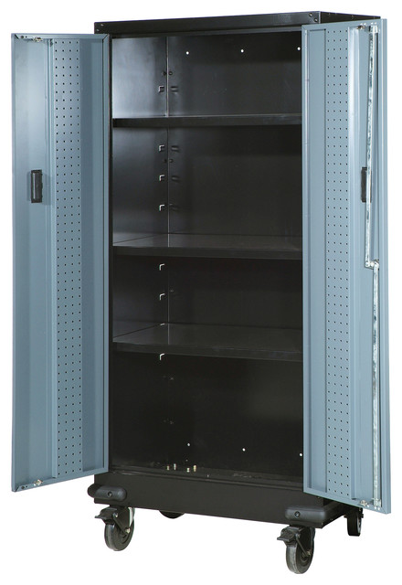 30 Tall Storage Cabinet With Casters Beach Style Garage And Tool By International