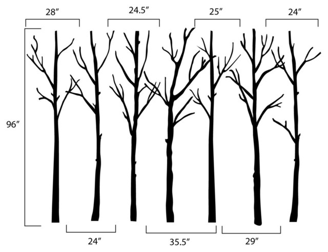 Winter Trees Wall Decal Contemporary Wall Decals Part 73