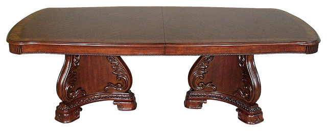 10 Ft Long Mahogany Double Pedestal Dining Table W Leaf