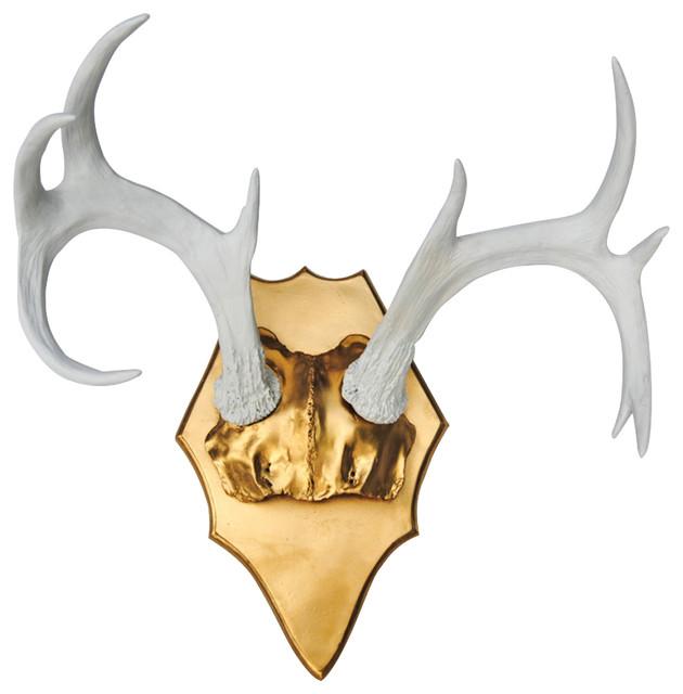 Faux Deer Antlers White Antler Rack On