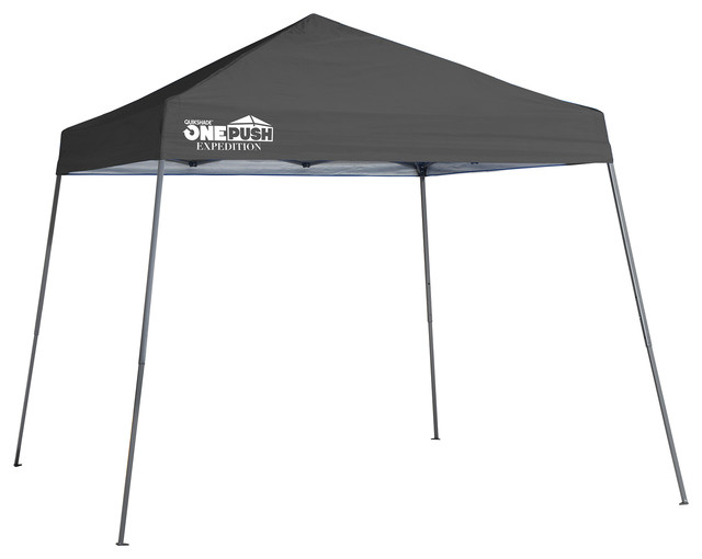 Expedition Ex64 One Push 10&x27;x10&x27; Slant Leg Canopy, Charcoal.