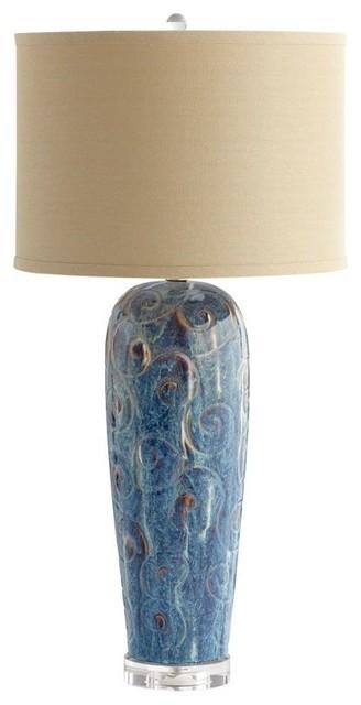 Cyan Design 06546 Translation Table Lamp, Blue Glaze.