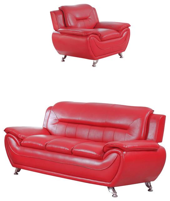 Maisie 2-Piece Sofa and Chair Set - Contemporary - Living Room ...