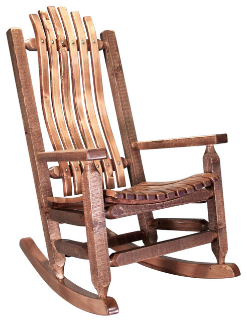 Shop HouzzMontana Woodworks Rocking Chair in Stained and