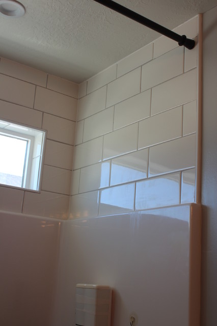 Tile Above Shower Enclosure Industrial Salt Lake City
