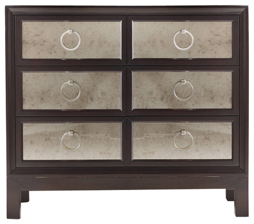 Hooker Furniture Melange Six Drawer Mirrored Front Chest