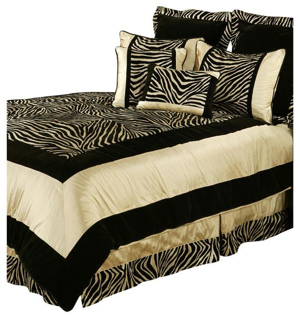 Dark Comforter Sets Modern Classic Bedroom Design 3 Pieces Dark Color Soft King Comforter Set: Sherry Kline Zuma Black Taupe 7-Piece Comforter Set