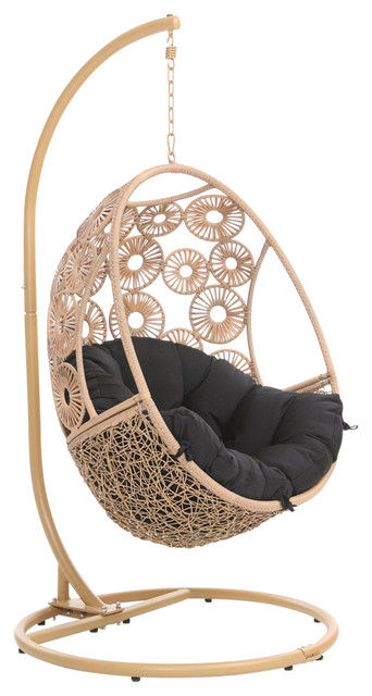 Marvelous Modern Bay Swing Chair Black Forskolin Free Trial Chair Design Images Forskolin Free Trialorg