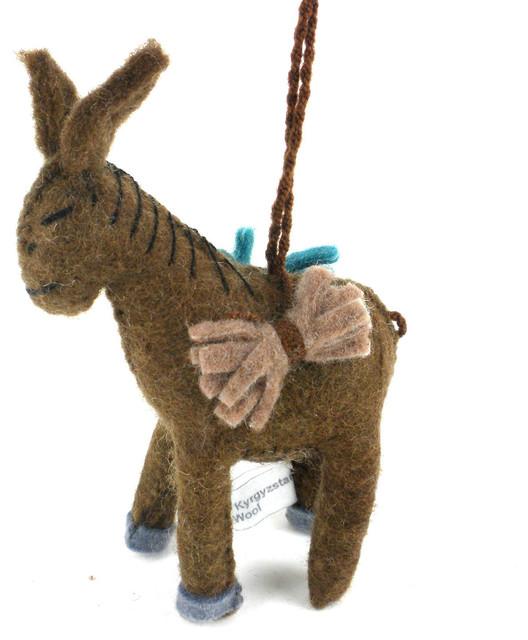 Donkey Christmas Ornaments.Baby Donkey Felt Holiday Ornament
