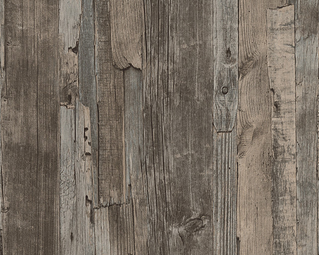 Wood Wallpaper, Brown, Roll contemporary-wallpaper - Non-Woven Wood Wallpaper - Contemporary - Wallpaper - By Designers