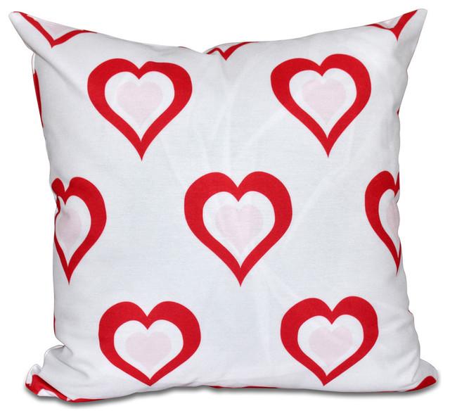 Decorative Valentine Pillows : E by Design - Valentine Print Pillow & Reviews Houzz