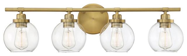 Carson, Warm Brass, 4-Light Bath