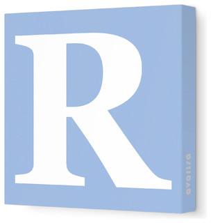 Letter - Upper Case 'R' Stretched Wall Art - Modern ...