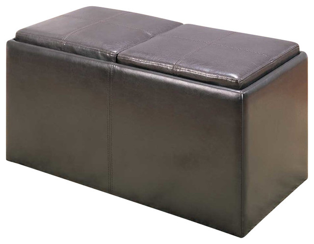 Sensational Homelegance Claire Storage Bench With 2 Ottomans And Trays Caraccident5 Cool Chair Designs And Ideas Caraccident5Info