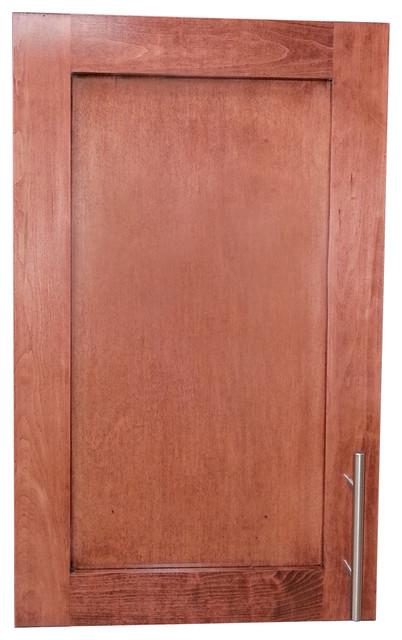 """22"""" Wall Mounted Hampton Frameless Cabinet, 3.5"""" Deep, Dark Cherry."""