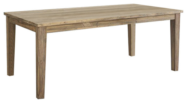 Cargo Reclaimed Teak Wood Extendable Dining Table, Rectangular, Large