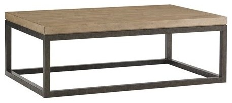 Lexington Monterey Sands 52x34 Rectangular Niles Canyon Cocktail Table  Transitional Coffee Tables