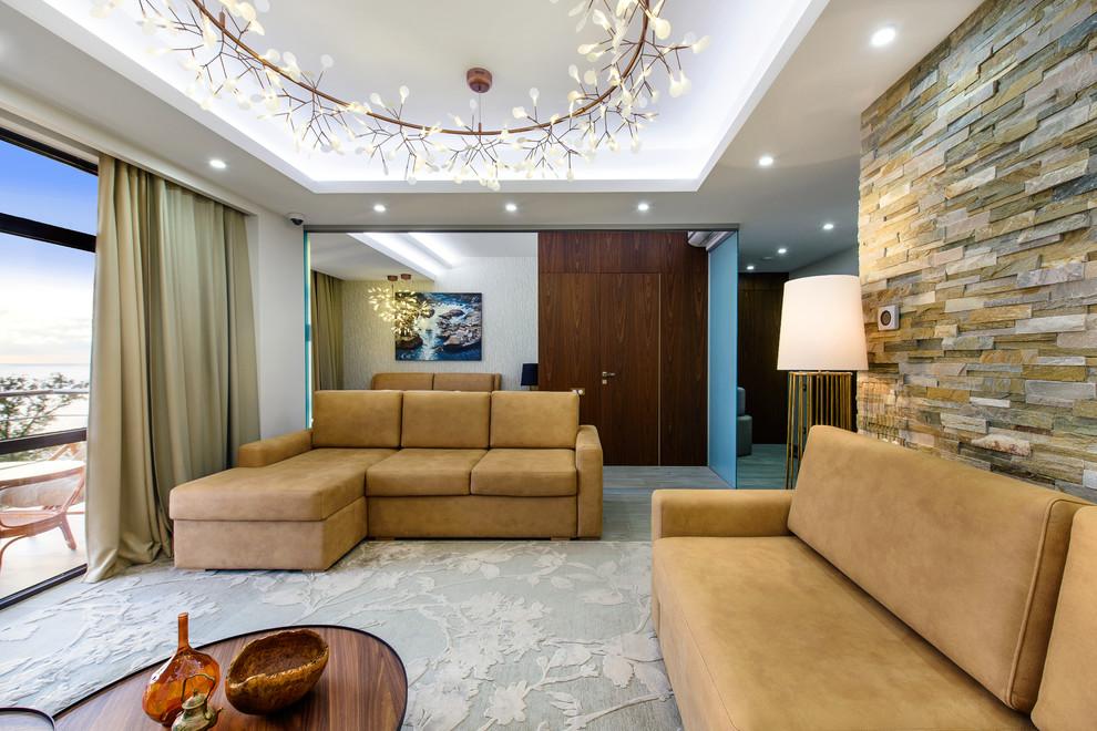 Квартира в современном стиле с видом на реку