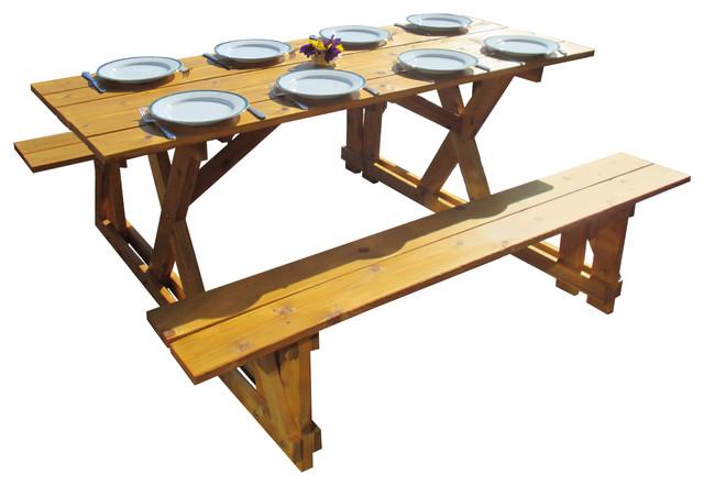 cedar picnic table farmhouse outdoor dining tables by smart carts infinite cedar. Black Bedroom Furniture Sets. Home Design Ideas
