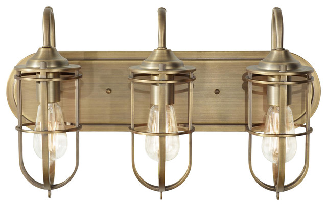3 light standard bulb bath vanity light dark antique brass 3 light standard bulb bath vanity light dark antique brass industrial bathroom vanity mozeypictures Image collections