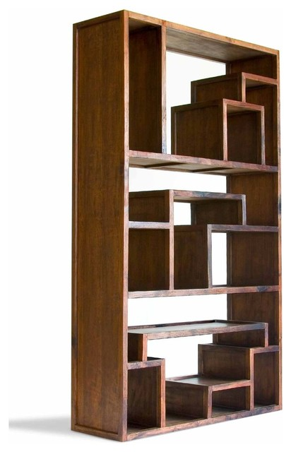 Great Wall Mahogany Bookcase - Asian - Bookcases - by Tansu Furniture