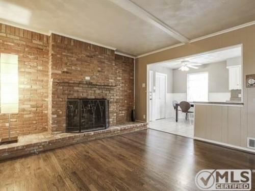 60 s brick fireplace remodel for new homeowner