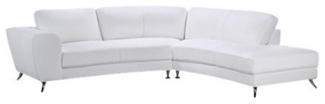 Julie Sectional, White, Right Arm Chaise Facing.