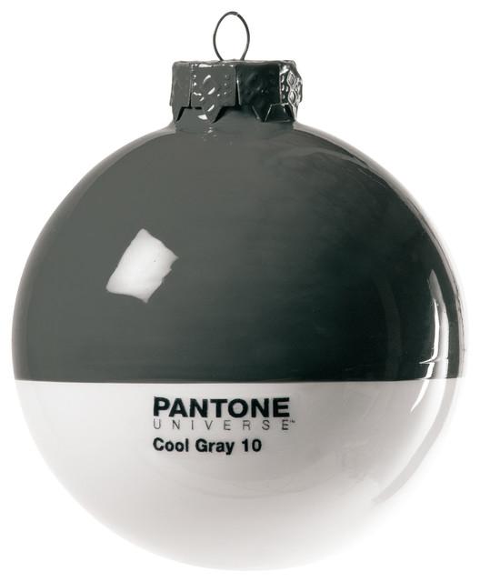 ChristmasPantone Glass Ball  Contemporary  Christmas Ornaments