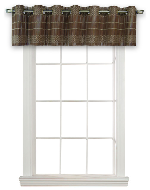 """Bamboo Wood Valance With Grommets, 72""""x12""""."""