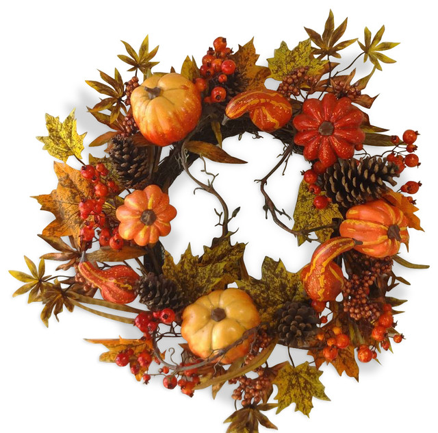 24 Pumpkin Wreath.
