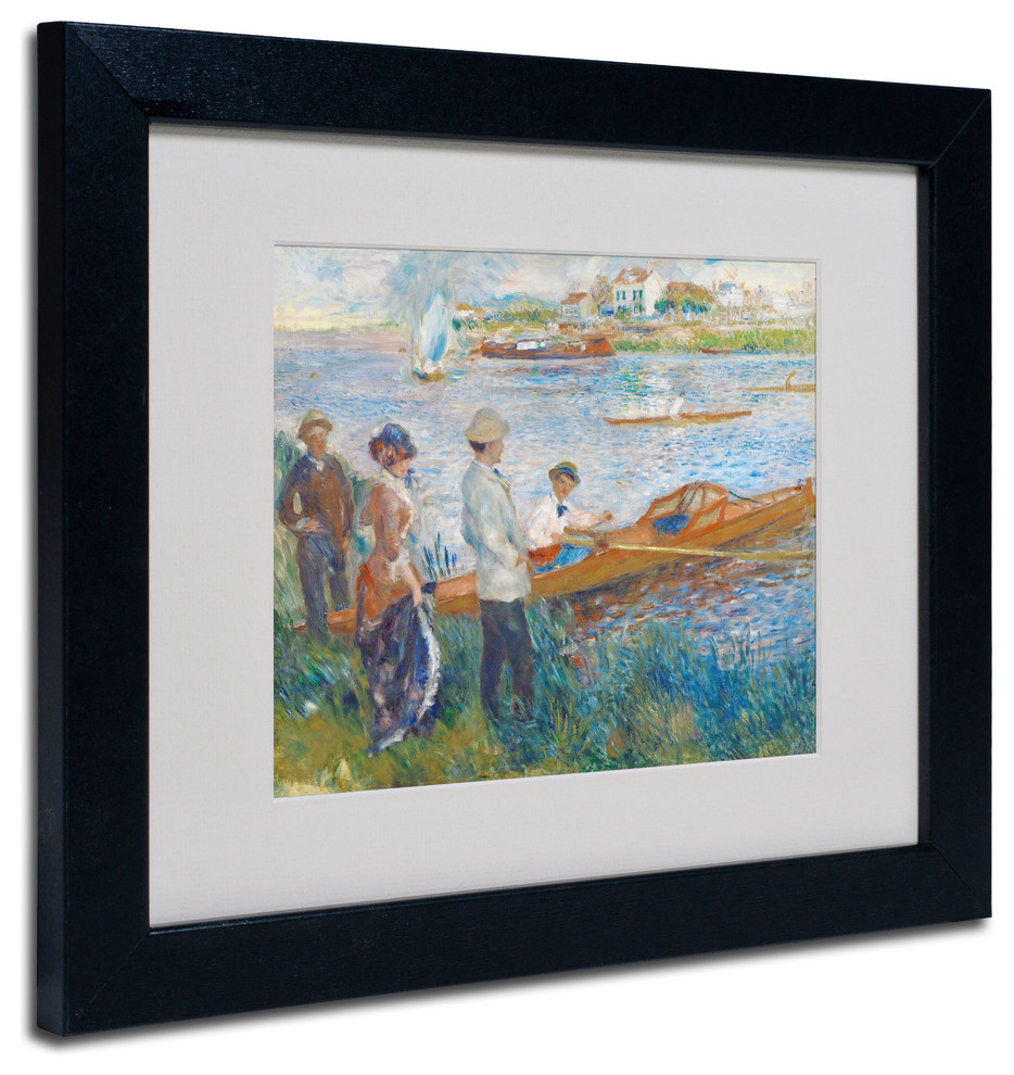 Oarsmen At Chatou 1879 Matted Framed Canvas Art By Pierre Renoir Traditional Prints And Posters By Trademark Global