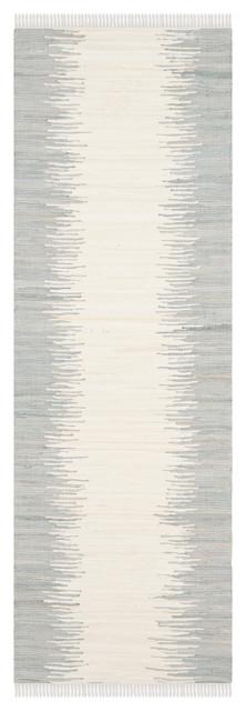 Safavieh Lolita Flatweave Rug, Gray, 2&x27;3x11&x27;7.