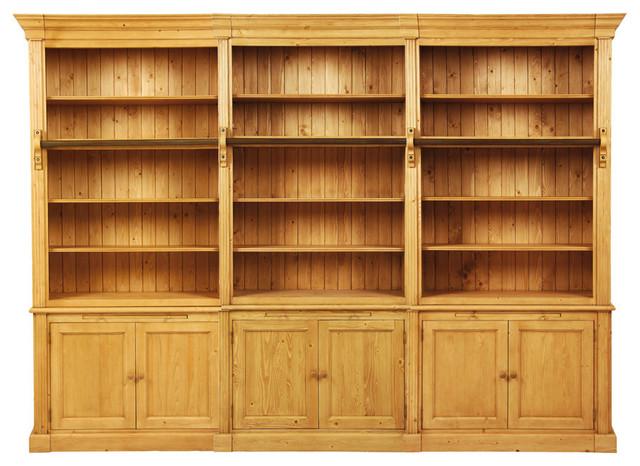 Natural 3 Piece Bookshelf Waxed