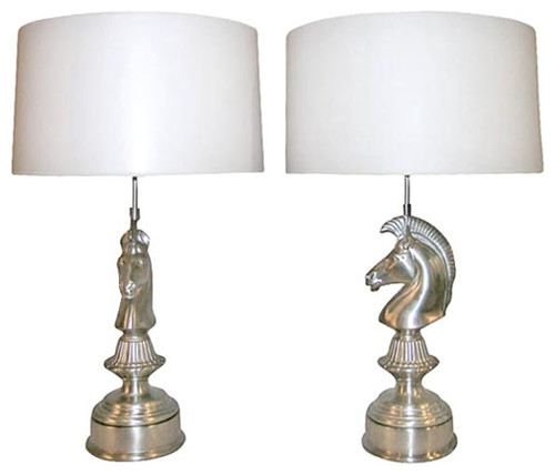 Pair of Art Deco Horse Head Table Lamps contemporary table lamps, φωτιστικο επιτραπεζιο, φωτιστικο για το τραπεζι