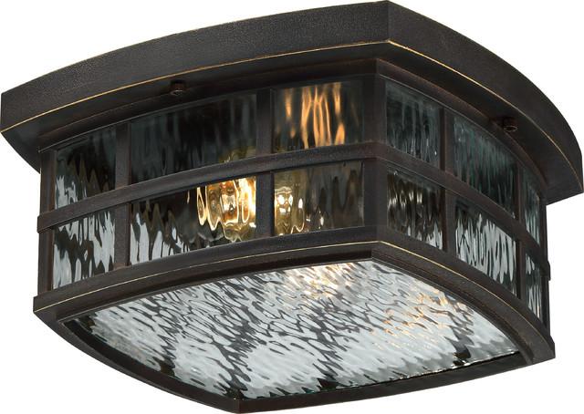 Luxury craftsman bronze outdoor ceiling light uql1249 zurich