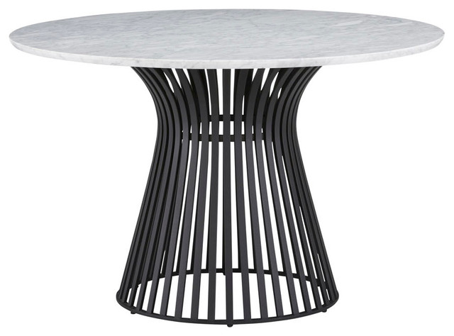 Palliser Furniture Naomi Round Dining Table With Black Base And Marble Top Transitional Dining Tables By Palliser Furniture