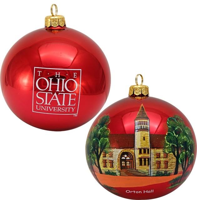 Collegiate Round Ohio State University Ornament - Collegiate Round Ohio State University Ornament - Traditional