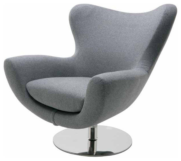 Conner Lounge Chair, Light Gray Wool Armchairs And Accent Chairs