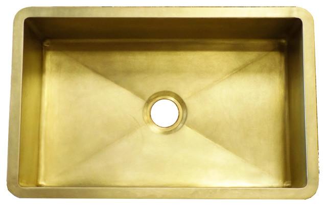 farmhouse sink burnished brass