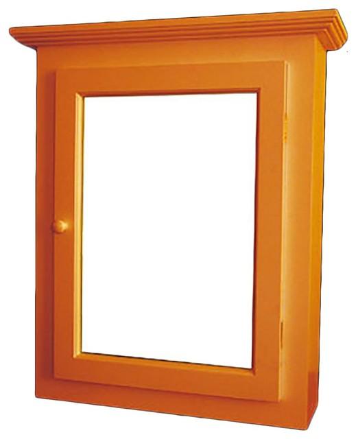 Solid Wood Medicine Cabinet Mirror Door Flush Surface Mount - Transitional - Medicine Cabinets ...
