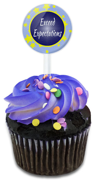Exceed Expectations Cupcake Toppers Picks Set.