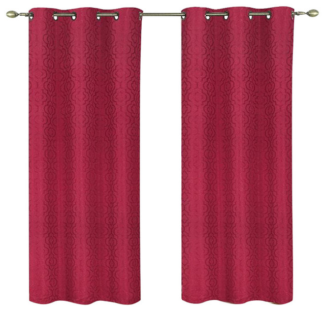 Curtains Ideas 54 curtain panels : Kashi Home Valentina Foam Backed Blackout Curtain Panels, Set of 2 ...