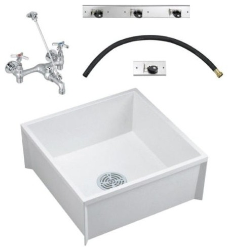 American Standard Msbidtg2424 Fiat Floor Mount Utility Sink Fixture Contemporary Sinks By Buildcom