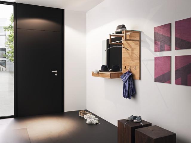 Wall Coat Hangers In Hallway hallway storage and coat rack - modern - london -wharfside