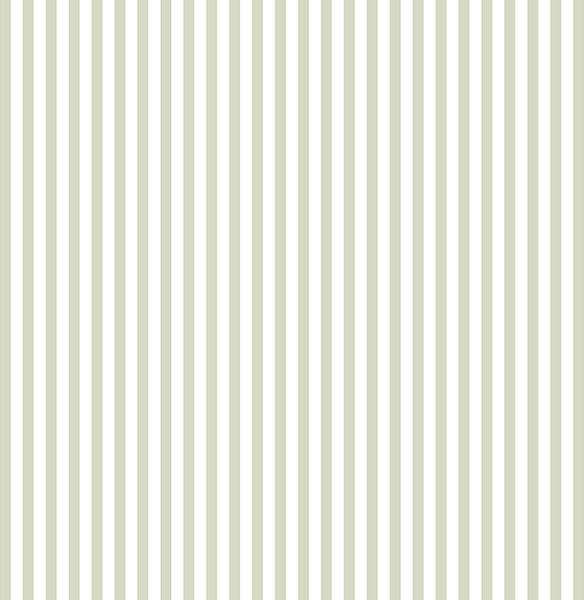 """1/4"""" Wide Vertical Stripe Wallpaper, Green, Set Of 2 Bolts."""
