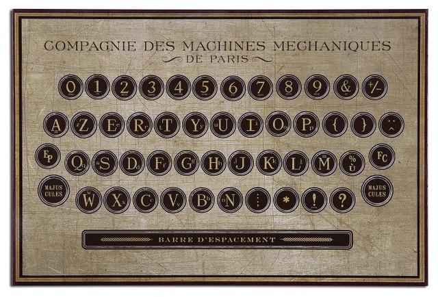 Superbe John Kowalski Antique Keyboard Vintage Wall Art X 00613 Traditional Artwork