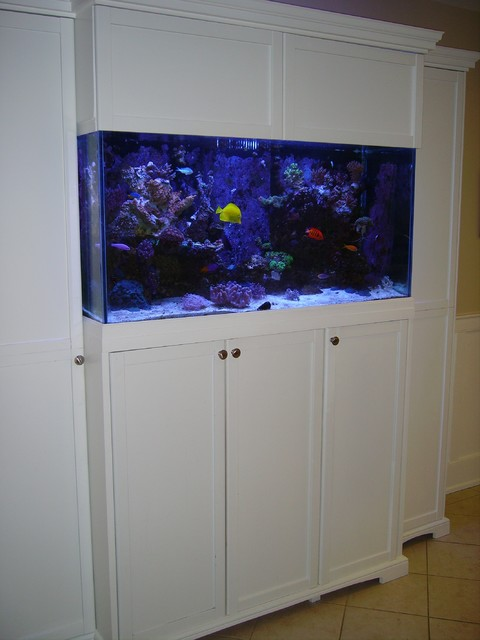 Aquarium cabinet for 90 gallon reef tank - Traditional ...